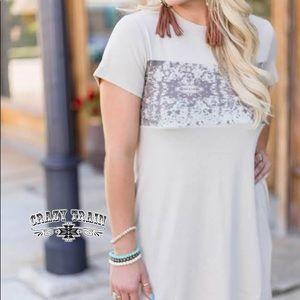 Riley Ranch Cow Hide Dress